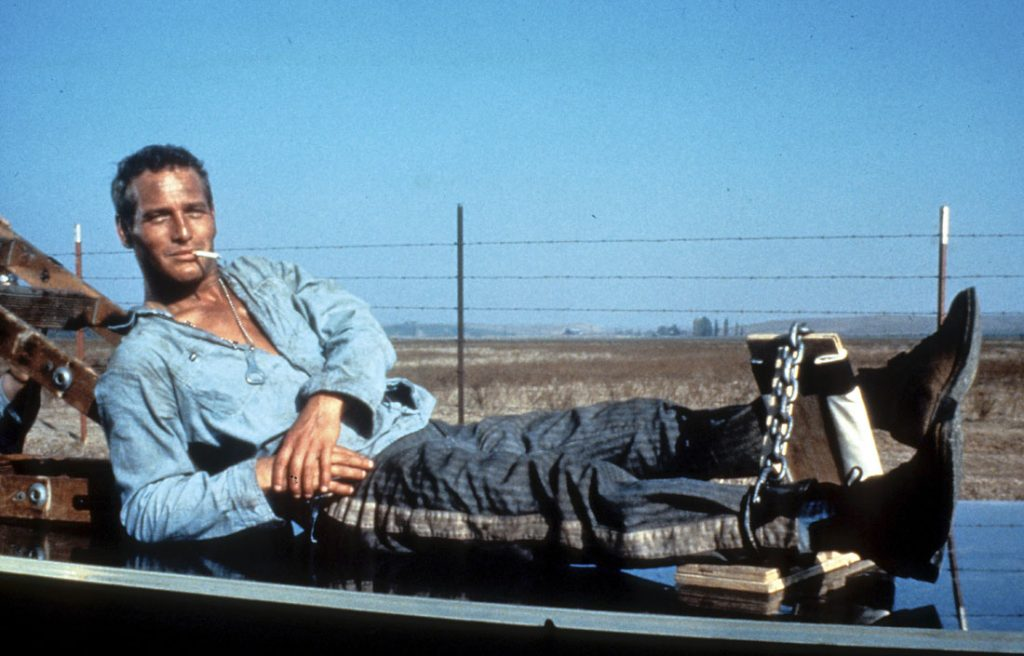 Paul Newman in a scene from the film 'Cool Hand Luke', 1967. (Photo by Warner Brothers/Getty Images)